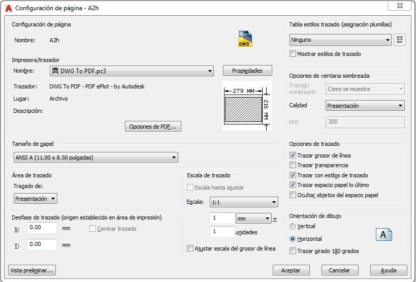 configurar papel para imprimir en autocad