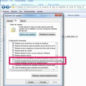 Extension de los archivos autocad