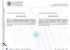 Certificado de aprovechamiento - curso de accesibilidad y diseño accesible